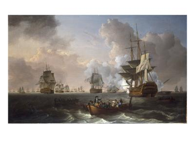 The Battle of the Nile, 1st August 1798, 1801-William Anderson-Giclee Print