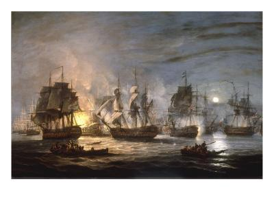 The Battle of the Nile, August 1st 1798, 1830-Thomas Luny-Giclee Print