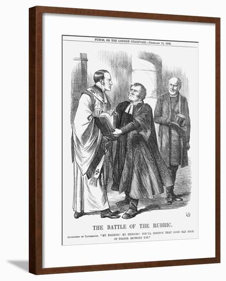 The Battle of the Rubric, 1866-John Tenniel-Framed Giclee Print