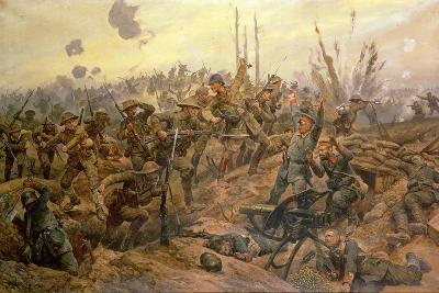 The Battle of the Somme-Richard Caton Woodville II-Giclee Print