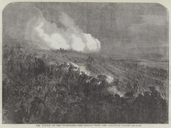 The Battle of the Tchernaya, the Attack Upon the Sardinian Picket-Gustave Dore-Giclee Print