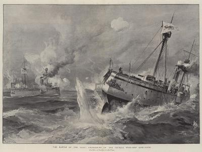 The Battle of the Yalu, Foundering of the Chinese War-Ship Chih-Yuen-William Heysham Overend-Giclee Print