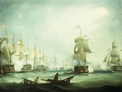 The Battle of Trafalgar, 1805-Thomas Buttersworth-Giclee Print