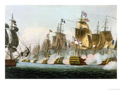 "The Battle of Trafalgar, 21st October 1805, for J. Jenkins's ""Naval Achievements""-Thomas Whitcombe-Giclee Print"