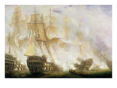 The Battle of Trafalgar, c.1841-John Christian Schetky-Giclee Print