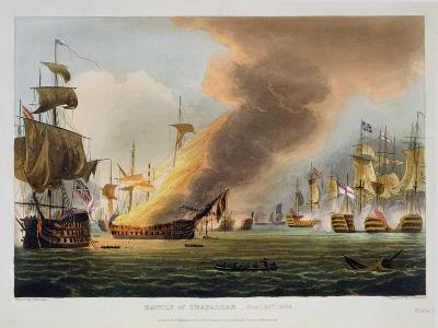 "The Battle of Trafalgar, October 21st 1805, for J. Jenkins's ""Naval Achievements""-Thomas Whitcombe-Giclee Print"