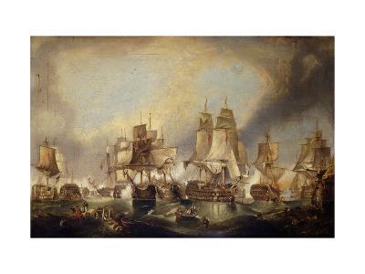 The Battle of Trafalgar-(after) William Clarkson Stanfield-Giclee Print