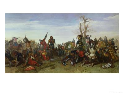 The Battle of Trente in 1350, 1857-Octave Penguilly l'Haridon-Giclee Print