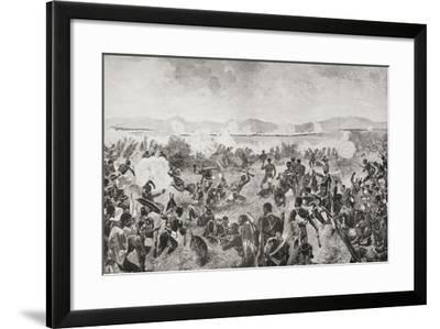 The Battle of Ulundi in 1879 Showing the Final Rush of the Zulus and the British Square--Framed Giclee Print