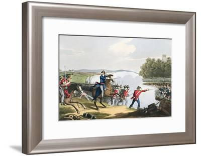 'The Battle of Waterloo Decided by the Duke of Wellington', 1815 (1816)-Matthew Dubourg-Framed Giclee Print