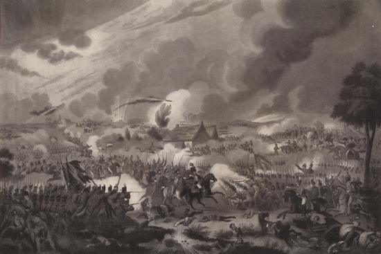 'The Battle of Waterloo, June 18, 1815', 1817 (1909)-Richard Gibson Reeve-Giclee Print