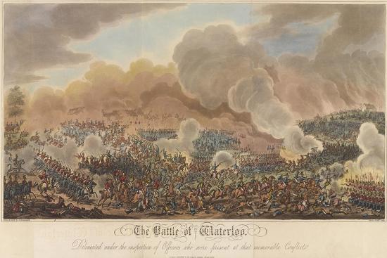 The Battle of Waterloo-George Cruikshank-Giclee Print