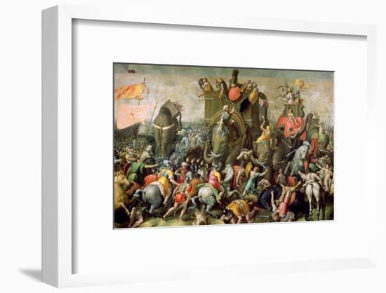 The Battle of Zama, 202 BC, 1570-80-Giulio Romano-Framed Giclee Print