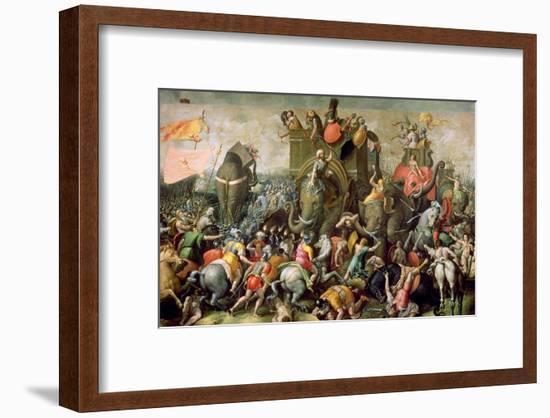 The Battle of Zama, 202 BC, 1570-80-Giulio Romano-Framed Giclee Print