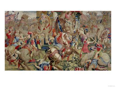 The Battle of Zama, by Giulio Romano--Giclee Print