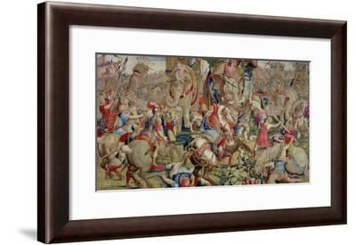 The Battle of Zama, by Giulio Romano--Framed Giclee Print