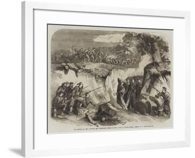 The Battle on the Volturno, the Neapolitan Troops Passing Along a Ravine-Thomas Nast-Framed Giclee Print
