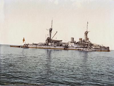 The Battleship SMS Kurfürst Friedrich Wilhelm of the German Imperial Navy, 1910--Giclee Print