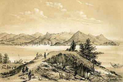 The Bay and Island of Hong Kong, 1847-E Gilks-Giclee Print