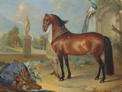 The Bay Horse' Sincero'-Johann Georg Hamilton-Giclee Print