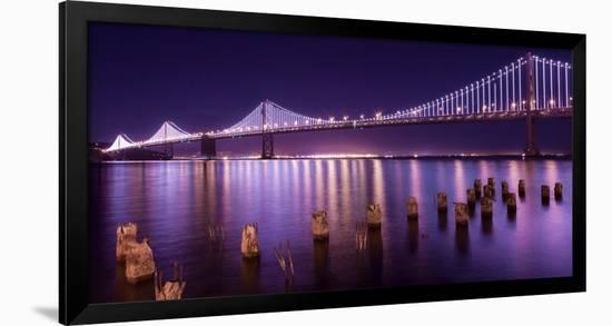 The Bay Lights-Greg Linhares-Framed Photographic Print