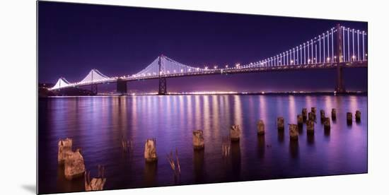 The Bay Lights-Greg Linhares-Mounted Premium Photographic Print