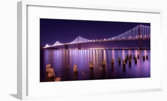 The Bay Lights-Greg Linhares-Framed Photographic Print