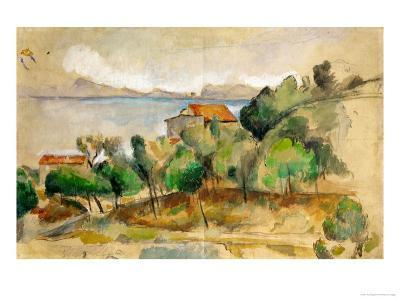 The Bay of L'Estaque, 1878-1882-Paul C?zanne-Giclee Print