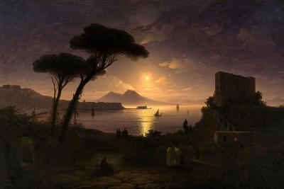 The Bay of Naples at Moonlit Night, 1842-Ivan Konstantinovich Aivazovsky-Giclee Print