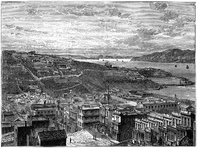The Bay of San Francisco, America--Giclee Print