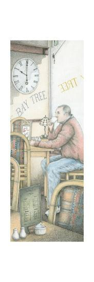 The Bay Tree Cafe Clock, Kirkby Lonsdale, Cumbria, 2009-Sandra Moore-Giclee Print