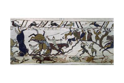 The Bayeux Tapestry, the Battle Is Raging, Norman Conquest 1066--Giclee Print