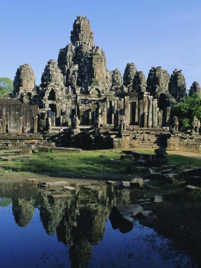 The Bayon Temple, Angkor, Siem Reap, Cambodia, Indochina, Asia-Bruno Morandi-Photographic Print