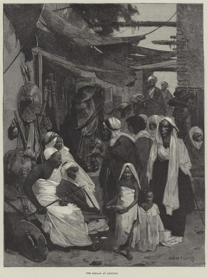 The Bazaar at Assouan-Charles Auguste Loye-Giclee Print