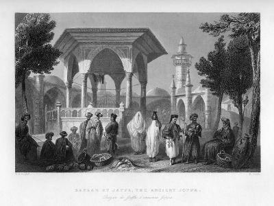 The Bazaar at Jaffa, the Ancient Joppa, Palestine (Israe), 1841-E Smith-Giclee Print