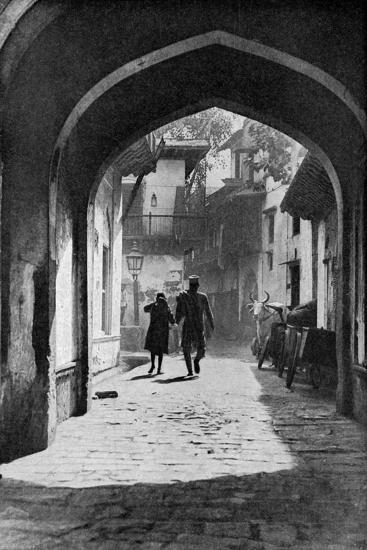The Bazaar of Lucknow, India, C1930S--Giclee Print