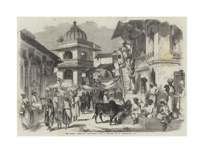 The Bazaar, Oodipoor, Rajpootana-William Carpenter-Giclee Print