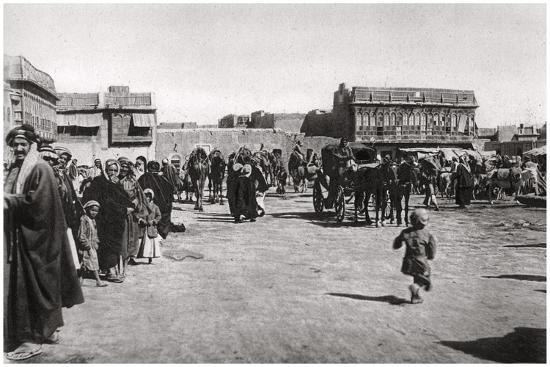 The Bazaar Square in Basra, Iraq, 1925-A Kerim-Giclee Print