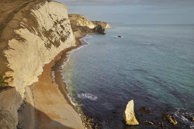 The Beach and Chalk Cliffs around Durdle Door, in the Jurassic Coast World Heritage Site-Nigel Hicks-Photographic Print