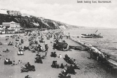 The Beach at Bournemouth, Dorset, C1920S--Giclee Print