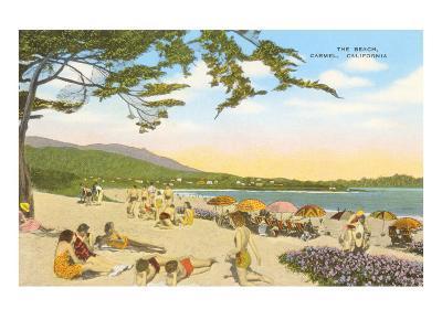 The Beach at Carmel--Art Print