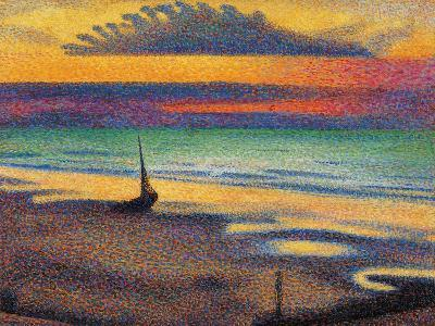 The Beach at Heist-Georges Lemmen-Giclee Print