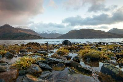 The Beach at Loch Leven in North Ballachulish in Scotland, UK-Tracey Whitefoot-Photographic Print