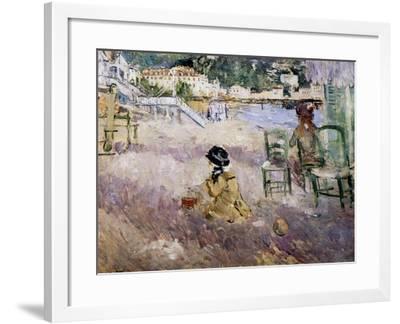 The Beach at Nice, 1882-Morisot-Framed Giclee Print