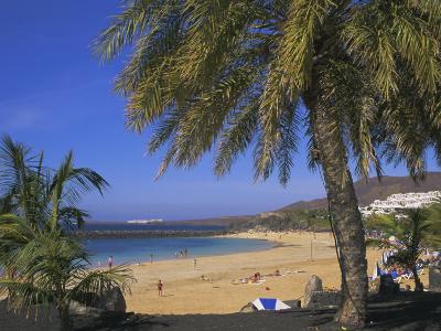 The Beach at Playa Blanca, Lanzarote, Canary Islands, Atlantic, Spain, Europe-John Miller-Photographic Print