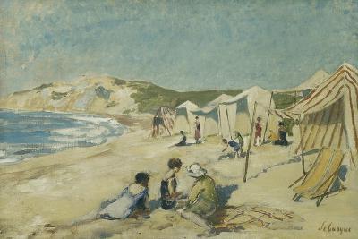 The Beach at Pointe St Gildas; La Plage a La Pointe St Gildas, C.1920-Henri Lebasque-Giclee Print