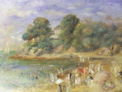 The Beach at Pornic-Pierre-Auguste Renoir-Giclee Print