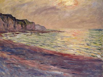 The Beach at Pourville, Setting Sun, 1882-Claude Monet-Giclee Print