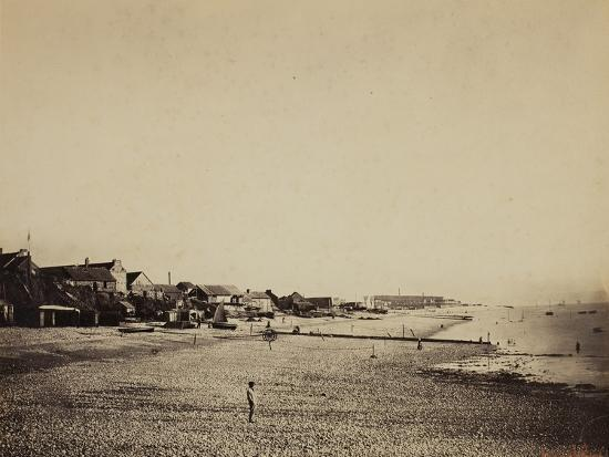 The Beach at Sainte-Adresse, 1856-57-Gustave Le Gray-Photographic Print