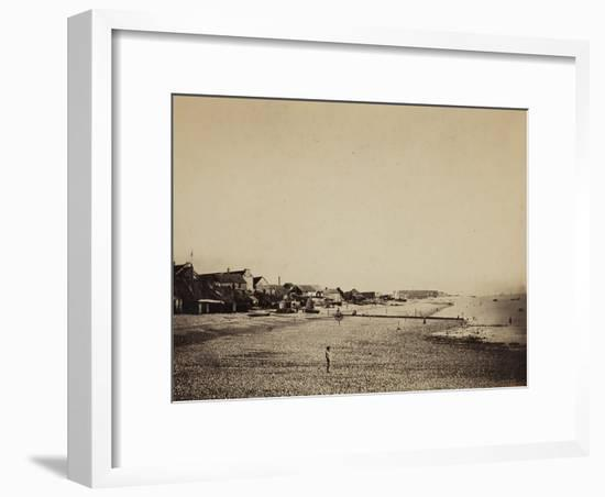 The Beach at Sainte-Adresse, 1856-57-Gustave Le Gray-Framed Photographic Print